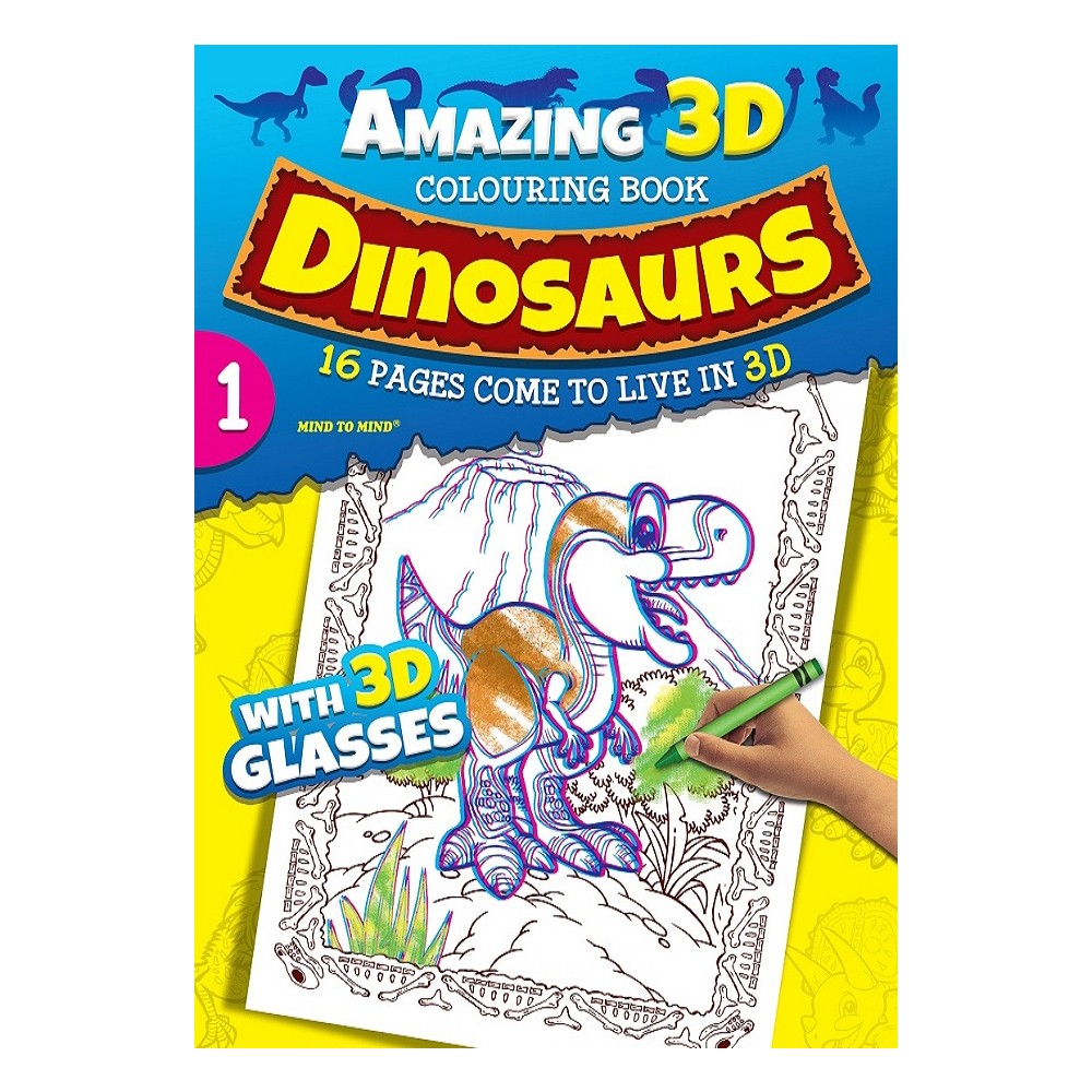 Amazing 3D Coloring Book Dinosaurs - Book 1 (MM00602) [MM00602 ...