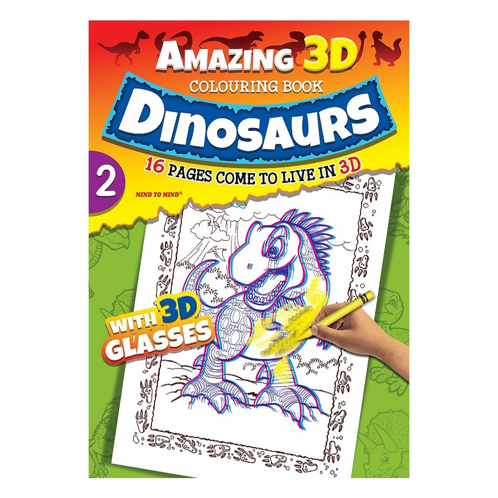 Amazing 3D Coloring Book Dinosaurs - Book 2 (MM00701) [MM00701 ...
