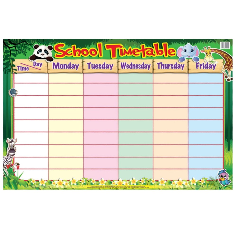 school timetable education chart mm09900 mm09900 wholesale